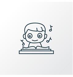music icon line symbol premium quality isolated vector image