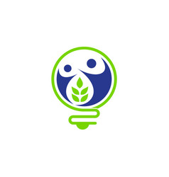nature and energy logo concept vector image