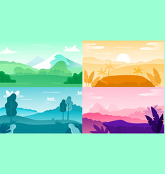 nature landscape background landscape sky and vector image