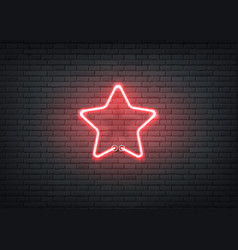 neon star red signage bar night club vector image