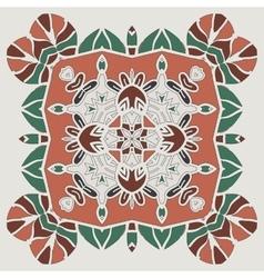 Oriental four-corner mandala print Round lase vector