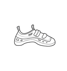 Outline alpinism equipment shoes icon vector