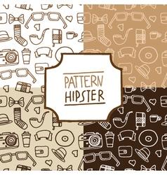 Pattern hipster set number 1 vector image