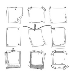 photo frames and different blank notepaper vector image