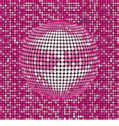 pink abstract disco ball background vector image vector image
