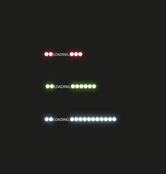 progress loading bar with lighting concept vector image