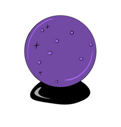 Purple crystal ball for predictions vector