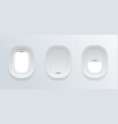 realistic detailed 3d blank airplane window vector image