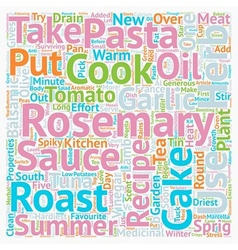 Recipes With Rosemary text background wordcloud vector image