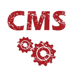 Red grunge cms logo vector