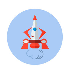 Rocket flat icon rocket icon d vector