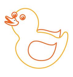 rubber duck toy shower play icon vector image
