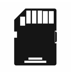 SD memory card icon simple style vector image