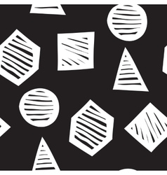 seamless geometric doodle pattern vector image