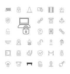 Security icons vector