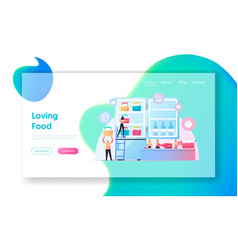 Semifinished products landing page template tiny vector