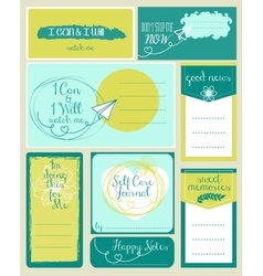 Set of journaling card and logotypes for vector