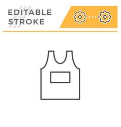 singlet editable stroke line icon vector image
