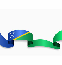 Solomon islands flag wavy abstract background vector
