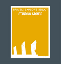 standing stones wiltshire england monument vector image