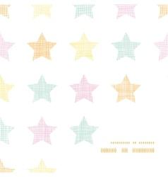 Stars textile textured pastel frame corner pattern vector