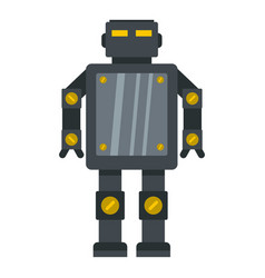 Steel robot icon isolated vector