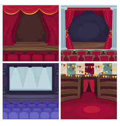 Theater scene or opera and cinema stage vector