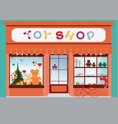 Toy shop window display vector
