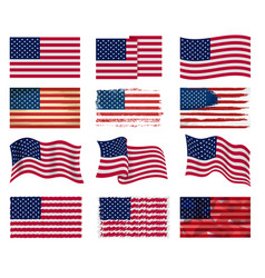 Usa flag american national symbol united vector