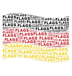 Waving german flag pattern of flags word items vector