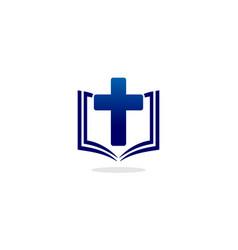 book christian logo vector image