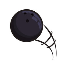 bowling ball sport game vector image vector image