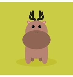 Cute Cartoon deer vector image vector image