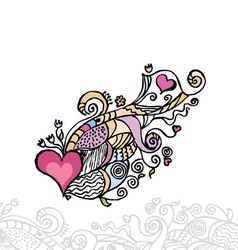 heart of love doodle layers are separated vector image