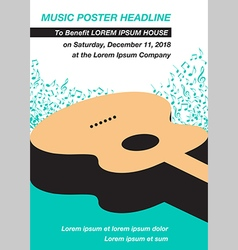 Music Concert Poster Layout Template vector image