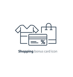 shopping special offer bonus card loyalty program vector image