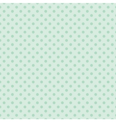 Tile mint green polka dots pattern or background vector image