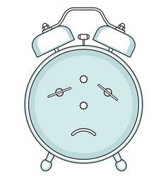 alarm clock backside vector image vector image