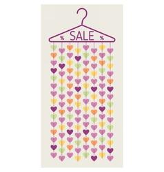 Hanger with heart garland Sale banner vector image