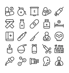 medical health and hospital line icons 2 vector image vector image