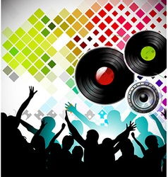 night party backgroung vector image vector image
