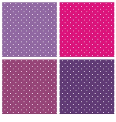 Violet blue and pink polka dots background set vector image vector image