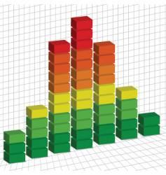 graph 3d vector image