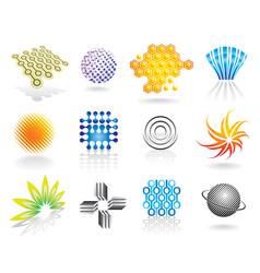 graphic symbols set vector image vector image