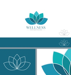 Lotus Flower Yoga Wellness Concept Design Element vector image vector image