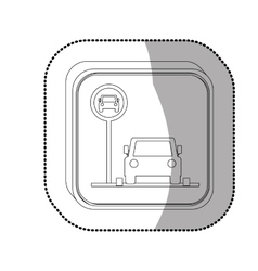 Parking road sign vector