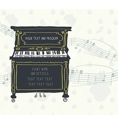 Poster for the piano concert with melody vector image