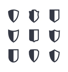 Shield frames simple icons set vector image
