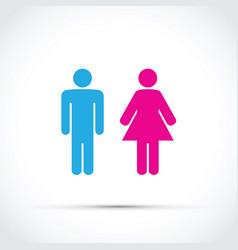 men and women toilet sign vector image vector image