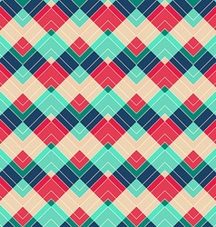 retro zigzag seamless pattern vector image